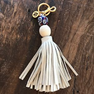 Tory Burch Orb Tassel Key Chain